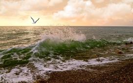 海浪写真壁纸