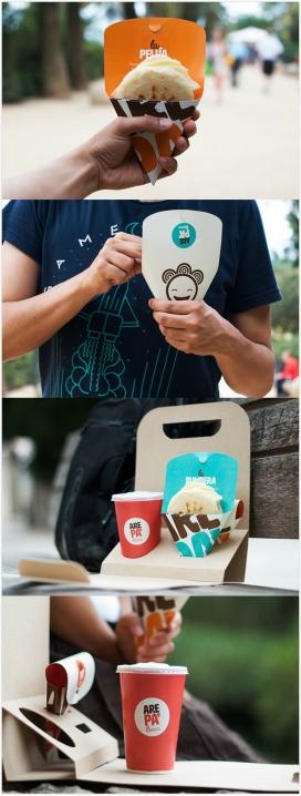 Arepa-委内瑞拉和哥伦比亚传统和象征性的食物品牌包装设计