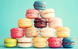 高清晰五彩法式小圆饼-马卡龙饼干壁纸下载