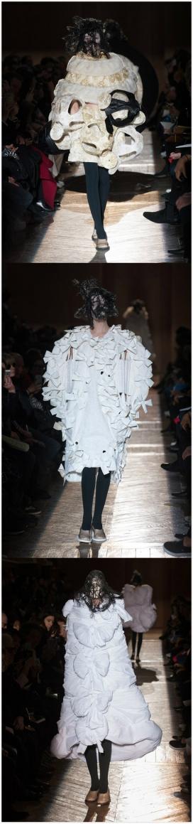蕾丝和茧绸缎纺织品面料秋冬季2015年-融入了维多利亚式丧服,戏剧性的时装秀在矿物学美术博物馆展出