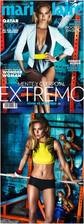 芭儿・拉法莉-Marie Claire玛丽・克莱尔墨西哥,合身的外观,包括泳衣,美诱露脐装,高跟鞋,一幅完美美诱的图像