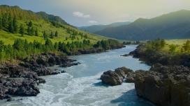 俄罗斯西伯利亚山江河
