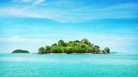 碧绿蓝的海洋岛