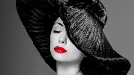 高清晰发帽红唇美女壁纸