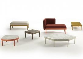 西班牙Sancal家具设计公司2015推出的家具拼凑系列-有镶嵌的椅子和桌子,灵感来自于设计师他们的家乡瓦伦西亚