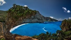 希腊波尔图蓝湖美景壁纸