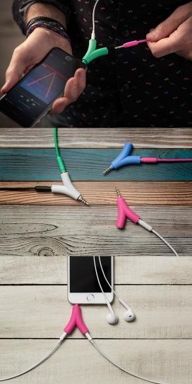 Duodio音响分频旅行插头套装设计