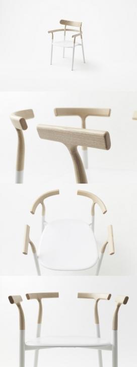 一个最低限度的Twig铝椅子设计-提供不同的形状颜色和材料。可以堆叠,存储方便。