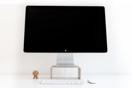符合人体工程学舒适的iMac电脑支架设计