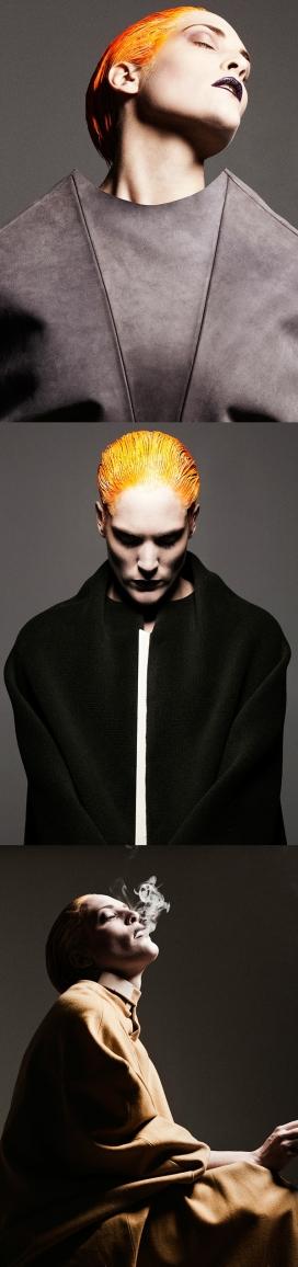 MØRK-大牌人像-夸张的服饰雨头发