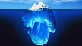 高清晰唯美的蓝色冰块壁纸