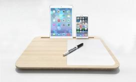 最简苹果笔记本电脑手机桌-一个简单而优雅的方式。可以很方便的让你的iPad或iPhone手机支撑起来,方便阅读