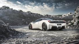 高清晰白色Ferrari豪车桌面壁纸下载
