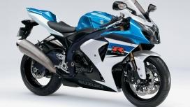 高清晰蓝色铃木GSXř摩托车壁纸
