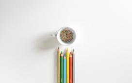 高清晰铅笔拼图造型主题壁纸图集下载