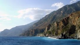 华丽的希腊克里特悬崖岛