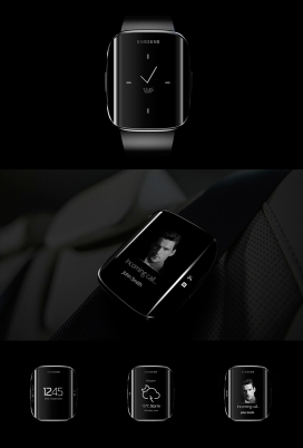Samsung Galaxy Gear Edge智能穿戴腕表设计