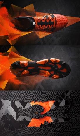 无与伦比的进攻-ADIDAS X 15 + PRIMEKNIT足球运动鞋设计