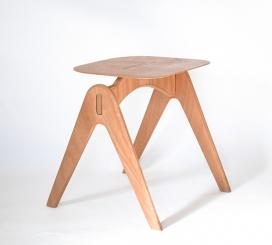 易光椅-天然蜡木材数控切割制作而成,采用胶合板为腿,环保实用。给人一种自然装饰的感觉