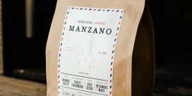 法国烘焙l Alchemiste-咖啡饮料包装设计-薄衬线字体显示现代,明快,丰富的味道和香气表达一个朴实家常的感觉