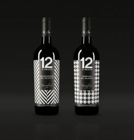 限量版Varvaglione玻璃奶瓶葡萄酒香槟包装设计-一个独特的包装,灵感来自伟大的意大利时尚瓶子留下深刻的印象。