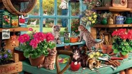 https://www.2008php.com/高清晰水墨猫家族壁纸