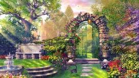 高清晰梦幻般花园壁纸