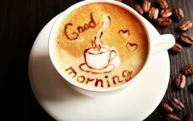 高清晰美味咖啡艺术主题电脑壁纸下载