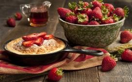高清晰草莓糕点美味食物电脑壁纸下载