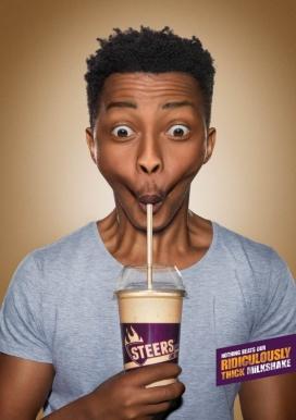 没有什么能比我们厚得离谱的奶昔-Steers平面广告