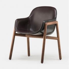 意大利设计师 Luca Nichetto has设计的斯特拉椅子-模制玻璃纤维座槽是最大的特色,有一个坚实的硬木帧大理石腿和,十分牢固