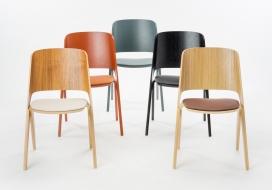 充满个性的创造家具-新添加精湛的LAVITA家居收藏,简单流线型的椅子既增添美丽和舒适