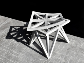 奇异几何图案凳子家具