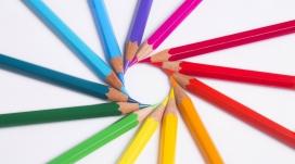 五彩铅笔壁纸