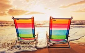 丰富多彩的大海休闲椅
