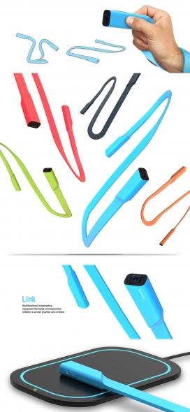 Link-多功能USB柔性体形状数据线设备设计
