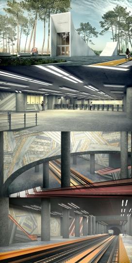 """莫斯科""""терехово""""地铁站设计"""