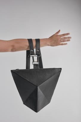 黑色几何袋