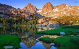生锈的峰顶木湖草