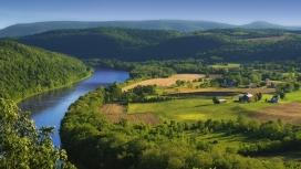 高清晰绿山村庄河