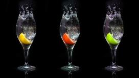 高清晰酒杯果汁壁纸