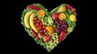 蔬菜水果拼成的爱心