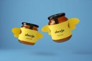 Abeeja会飞的瓶子-柠檬味蜂蜜包装设计