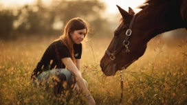 喂马的姑娘