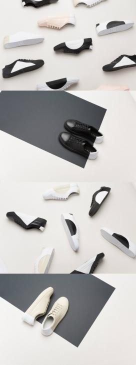 捕捉永恒的审美-日本THEY New York-色块搭配的时尚鞋-对于他们来说,美丽在于保持它简单,让鞋子自己发光。