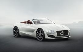 高清晰2017款银白色宾利 exp 12速6e概念敞篷车壁纸