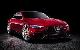 高清晰红色奔驰AMG运动版土豪金轮毂汽车壁纸