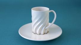 Linoubliable-带花瓣螺纹的咖啡杯,可以很好的固定杯子在底盘