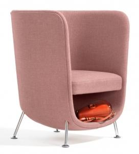 具有内置存储笔记本电脑袋的BlåStation袖珍扶手椅