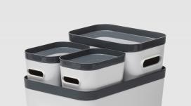 SmartStore™紧凑型多功能模块小型带盖储物箱系列-适用于家中的许多空间